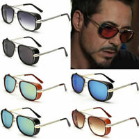 New Iron Man Men Retro Sunglasses Tony Stark Vintage Eye Glasses Fashion Eyewear