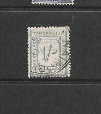 1935 King George V SG D12  1s. Grey Postage Due Used TANGANYIKA
