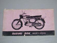 SUZUKI 80K OWNERS MANUAL