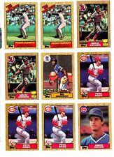 1987 TOPPS BASEBALL Key cards, U-Pick for $1.95 each, NM/M.