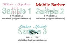 Business Cards 50 Hair Barber Lashes Mobile Personalised Designed Printed
