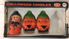 vintage Halloween CAPRI CANDLE Jack-o-lantern, Witch in original box