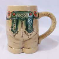 Lederhosen Beer Mug Stein Vintage Oktoberfest German Coffee Cheeky 22oz