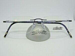 Silhouette 5521 EY  4540 Blue 19-150 Drilled Rimless Titanium Eyeglass Frame