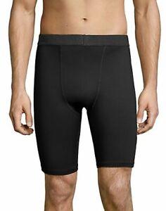 "Hanes Men's Performance Compression Shorts Sport Cool DRI 9"" inseam Cool Comfort"