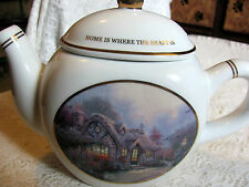 "2005 Thomas Kinkade Tea Pot ""Home Is Where The Heart Is"""