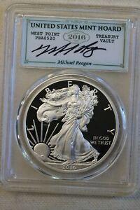 2016-W Proof Silver Eagle PCGS PR70 DCAM Lettered Edge Michael Reagan WP Hoard