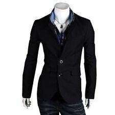 2017 New Fashion Men's Casual Slim Fit Two Button Suit Blazer Coat Jacket Tops
