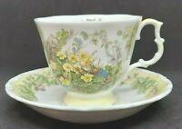 Royal Doulton Teacup & Saucer, SPRING Brambly Hedge Collection Jill Barklem 1983