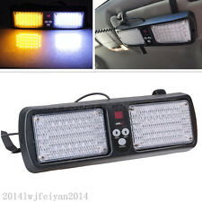 White/Amber 86LED Car SUV Truck Sun Visor Strobe Emergency Beacon Flashing Light