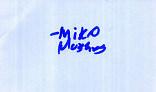 US TV & FILM ACTOR  MIKO HUGHES HAND SIGNED 5 x 3 AUTOGRAPH ALBUM PAGE
