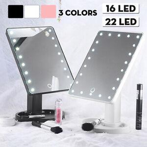 Rotatif Miroir de Maquillage Vanité Avec LED Lumières Cosmétique Écran Tactile