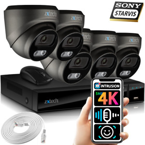 5MP & 8MP IP CCTV Kit 5x Face Detection Sony Starvis Microphone PoE IP Cameras