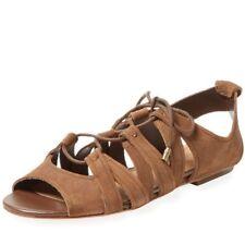 Corso Como Gladiator Sandal sz 8 M Sail Brown Lace Up Heavy Wax Suede
