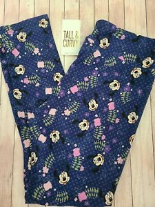 NEW LuLaRoe TC Disney Leggings Solid Blue Purple Polka Dot Floral Minnie Mouse