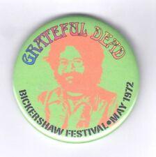 Grateful Dead Bickershaw Festival 1972 rare official festival badge 55 mm