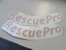 """EVINRUDE RESCUE PRO DECAL PAIR (2) 6 7/8"""" X 1"""" RED MARINE BOAT"""