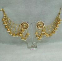 Indian Bridal Earrings Gold Plated Jewelry Antique Bahubali Pearl Jhumka Jhumki