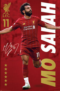 (423) LIVERPOOL FC FOOTBALL MO SALAH SPORTS MAXI POSTER NEW WALL HANGING