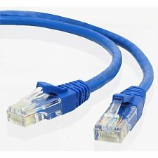 Ethernet Network Patch Cat5E Cable (30ft) - Blue
