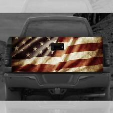 American Flag Trunk Tailgate Wrap Vinyl Graphic Decal Sticker Waterproof With 3M