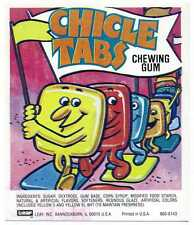 Leaf Chicle Tabs Bubble Gum Vending Machine Display Card 860-8143