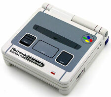 Custom Printed & Rociado Super Famicom SP Nintendo Game Boy Advanced SP
