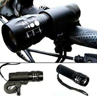 Cycle Bike Bicycle CREE Q5 LED Zoomable Focus Flashlight Torch Front Headlight