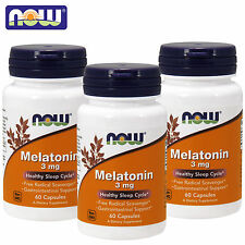 NOW Foods Melatonin 90-720Loze Natural Sleep Improve Quality Sleeping Aid Kosher