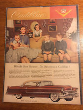 """VINTAGE 1955 WORLD'S BEST REASON FOR ORDERING A CADILLAC CAR AD 10""""x13"""""""