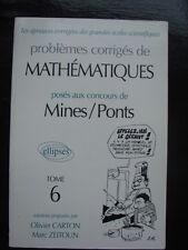 PREPA Corrigés de mathématiques posés aux concours de Mines-Ponts Carton  Ol