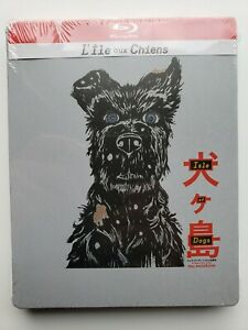 BLU RAY STEELBOOK L'ILE AUX CHIENS Edition française NEUF Wes Anderson