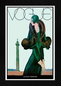 VOGUE POSTER: Vintage Art Deco Fashion Magazine Cover Unframed Art Print.