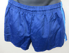 Vintage Army Tragl 80s Shorts Blue Retro Vtg Shiny Military Mens 7 D7 Large