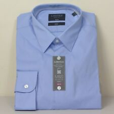 "M&s Ltd Edition Cotton Slim Fit Hemd ~ Gr. 16"" ~ blau"