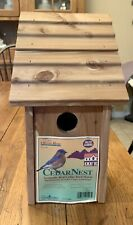 Cedar Nest Aromatic Red Cedar Bird House Cedar Works BH4 Ideal for Bluebirds NEW