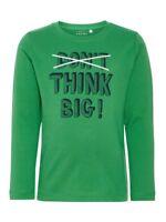 NAME IT Jungen Langarmshirt NMMVictor grün Think Big Größe 92 bis 122/128