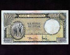 Indonesia, 1000 Rupiah 1957, P-53a * Elephant *