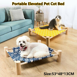 Portable Elevated Canva Pet Bed Breathable Detachable Puppy Dog Nest Cat Hammock