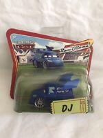 Disney Pixar CARS Word Of Cars DJ Diecast Short Card RARE Race O Rama New