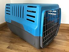 Pet Carrier Cage Dog Cat Kitten Puppy Travel Vet Transport Box Blue Grey Large