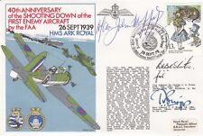Rare 2RN21c 40th Anniv Shooting Down 1st Enemy Aircraft by the FAA,Signed 3