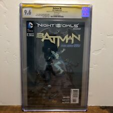 Batman #8 Night of the Owls CGC 9.6 SS Signed by Scott Snyder and Greg Capullo