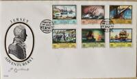 """Jersey Stamps """"Jersey Adventurers I"""" First Day Cover 1983"""