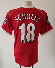 Manchester United 2006 - 2007 Home football Nike shirt #18 SCHOLES