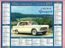 OLLER - CALENDRIER / ALMANACH du FACTEUR 2013 - PEUGEOT 404 / RENAULT 4 CV