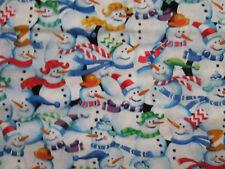 SNOWMEN SCARVES HATS SNOW MAN COTTON FABRIC BTHY