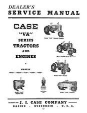 Case VA, VAC, VAH, VAO,VE Series Tractor and Engines Service Manual Reproduction