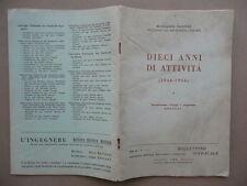 Associazione Nazionale Ingegneri Architetti Italiani 10 Anni Attività 1944 1954