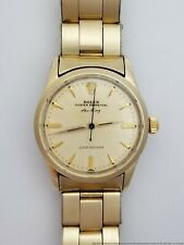 Scarce Rolex 5506 Air King Gold Clad Mens Oyster Perpetual Vintage